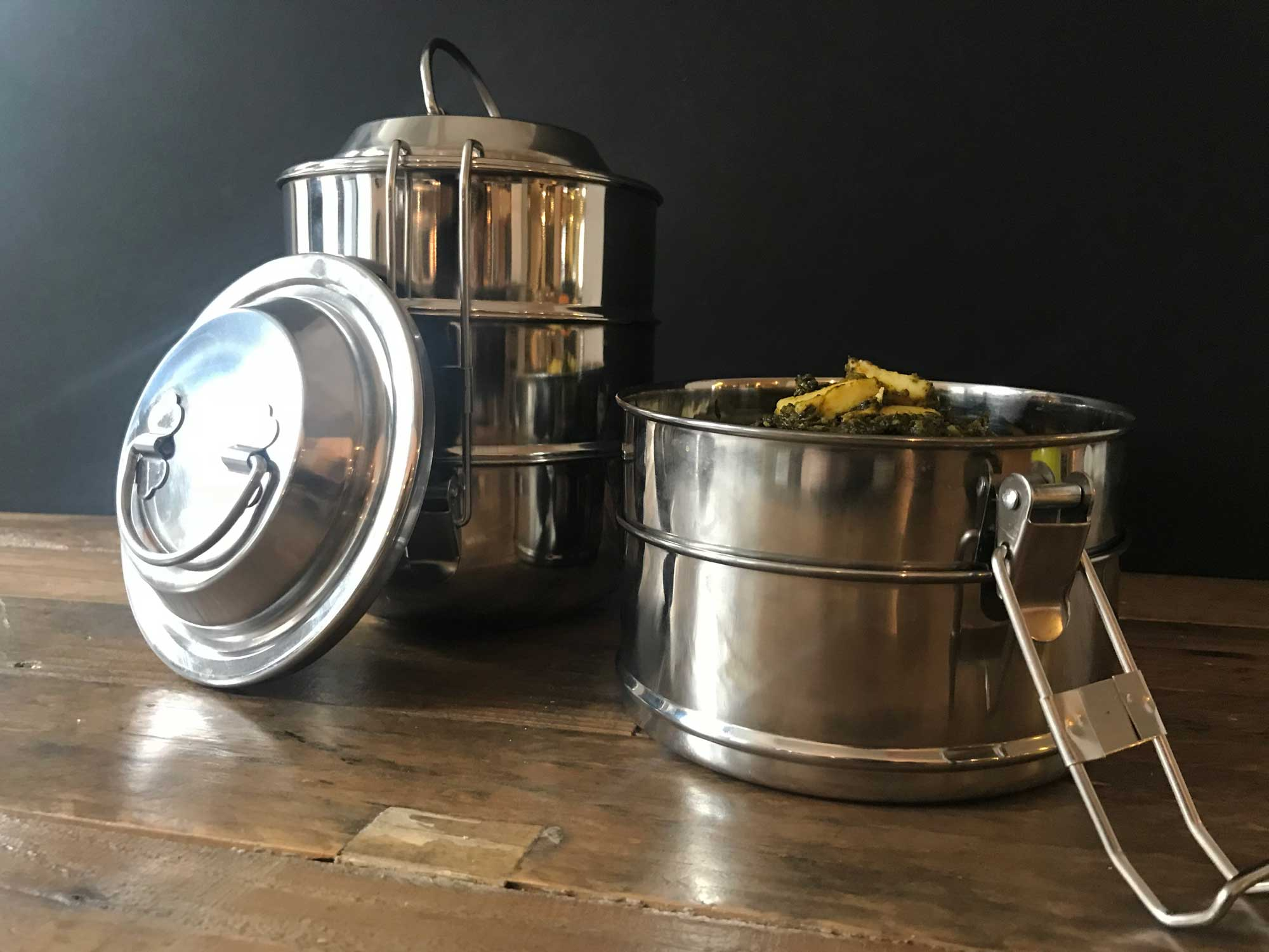 Traditional Indian 3-Tier Tiffin