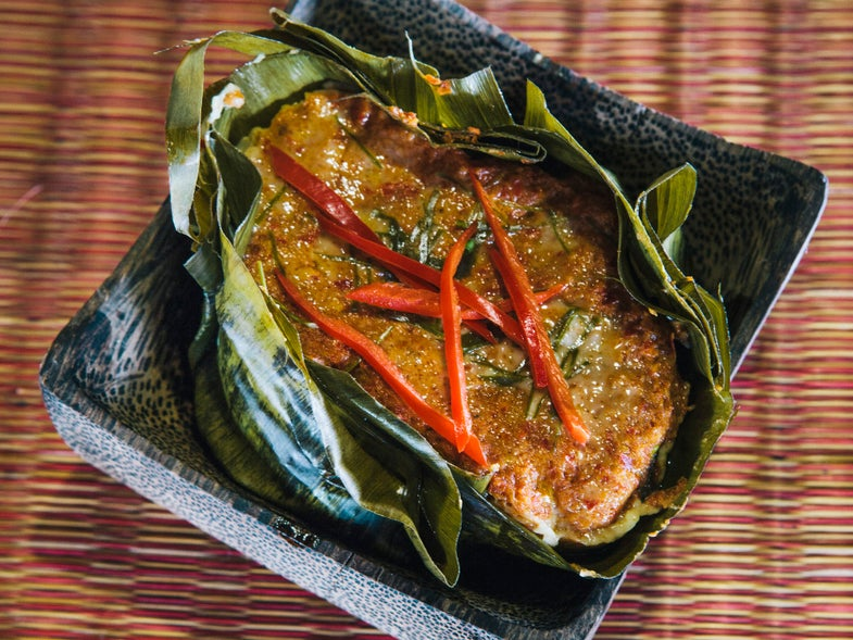 Fish Baked in Curry Custard (Amok)