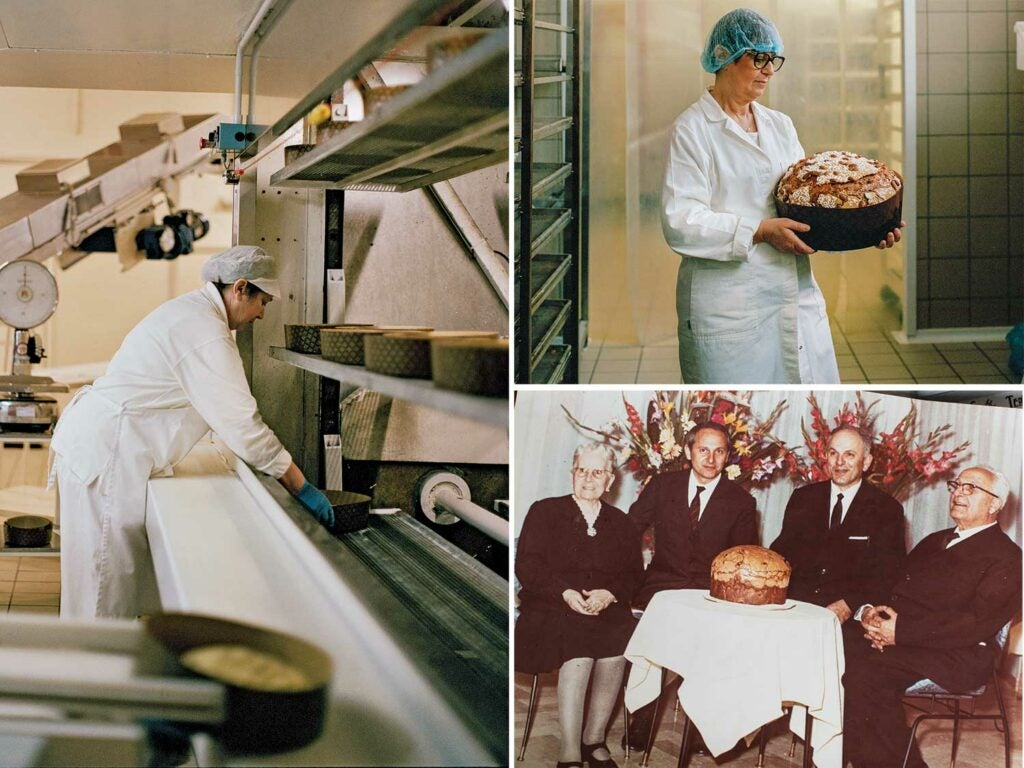Panettone factory and employees
