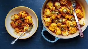 Cauliflower with Tomato Sauce (Gulpea)