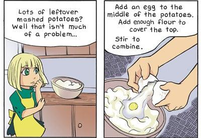 Recipe Comix: Potato Dumplings