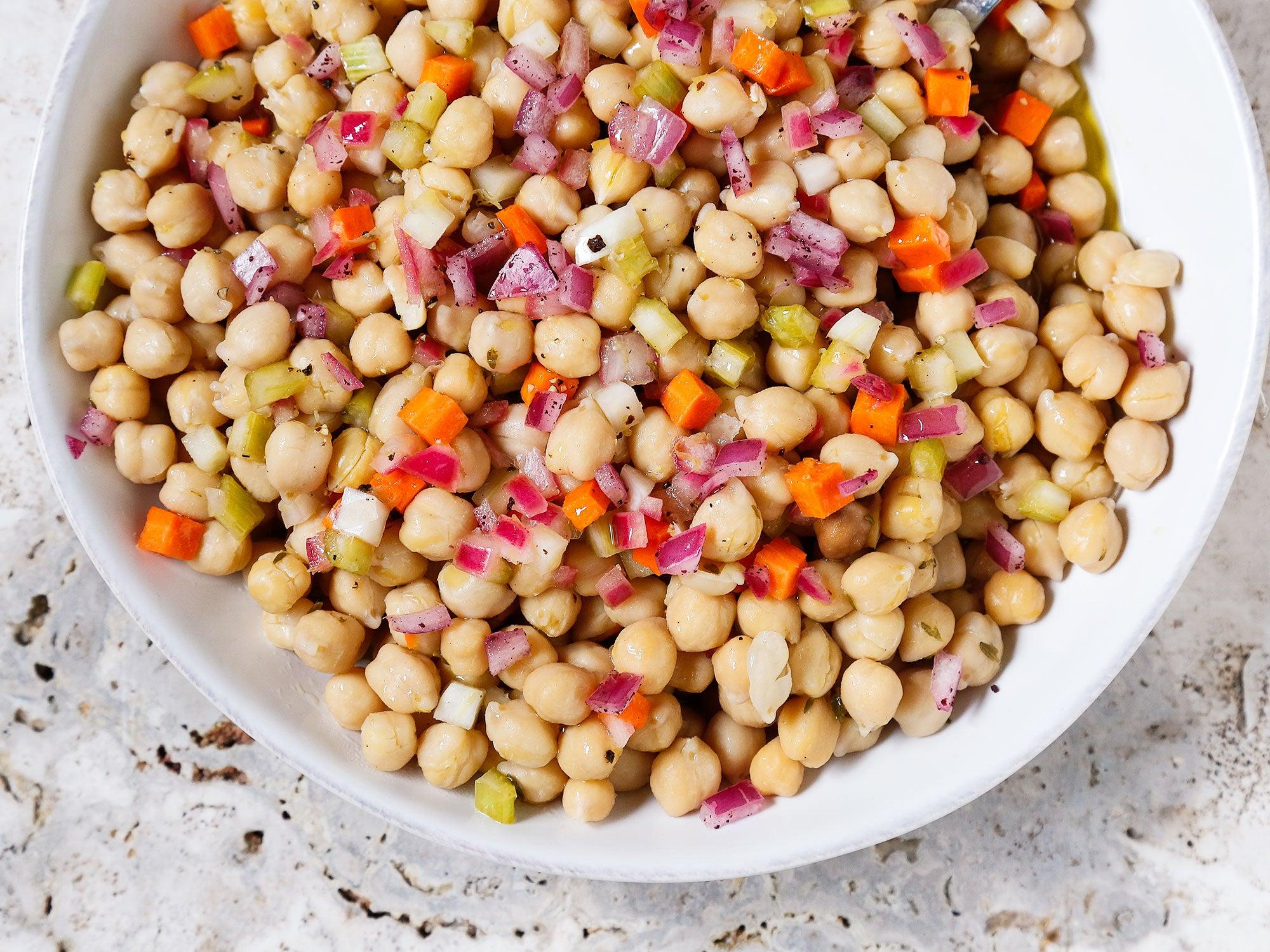 Braised Chickpea Salad