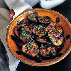 Eggplant Smothered with Charmoula Marinade