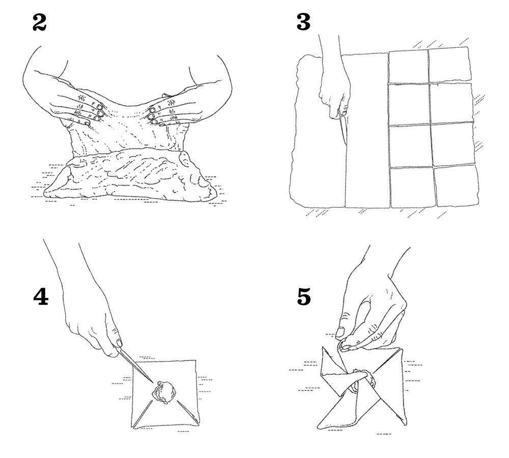 How to Form Raspberry Pinwheels