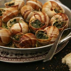 Snails in Garlic–Herb Butter