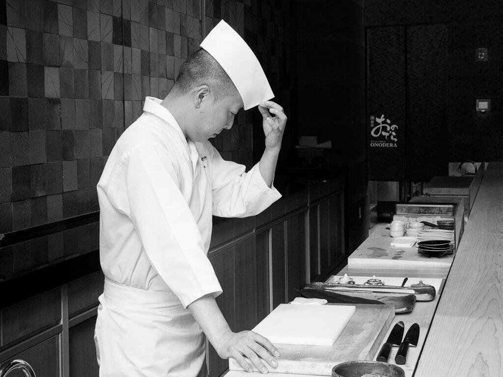 Chef Masaki Saito at Sushi Ginza Onodera.