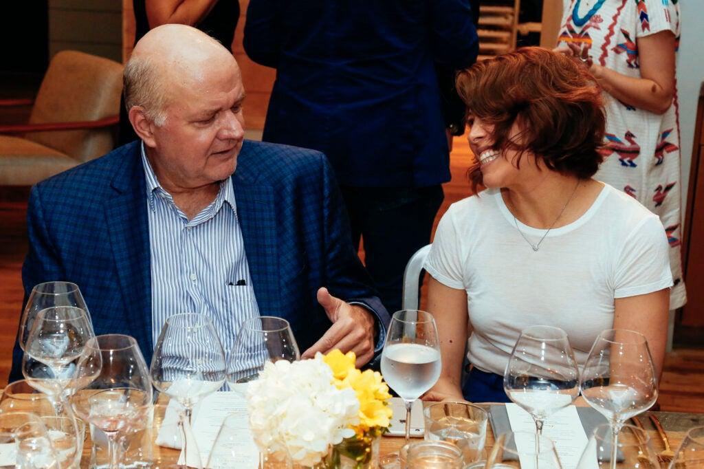 New York Magazine's Adam Platt with Saveur Test Kitchen Associate Kristy Mucci.