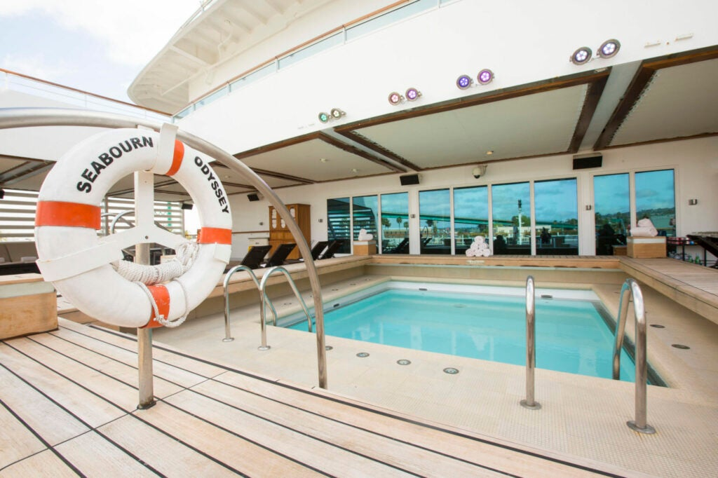 Seabourn Odyssey boasts five pools for guests to choose from