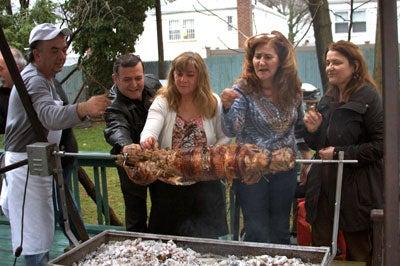 grilling a leg of lamb