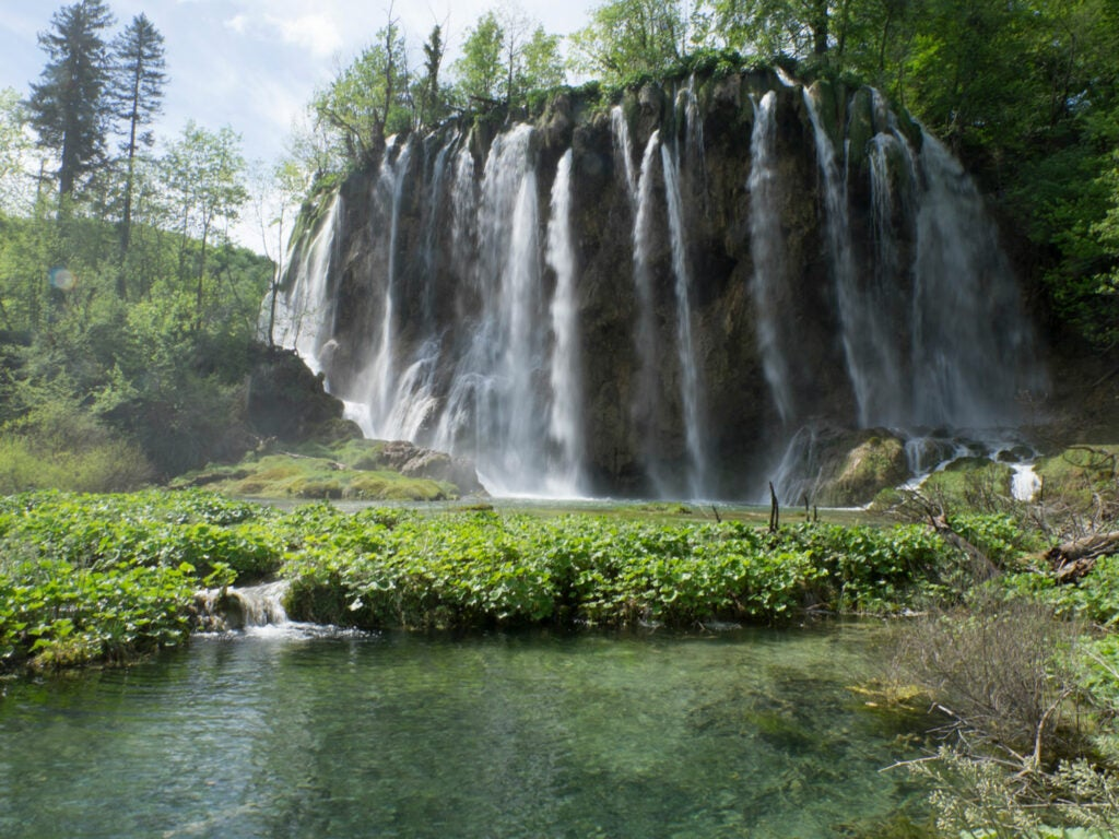 Croatia plitvice lakes waterfall