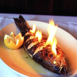 Baked Striped Bass with Fennel and Pernod