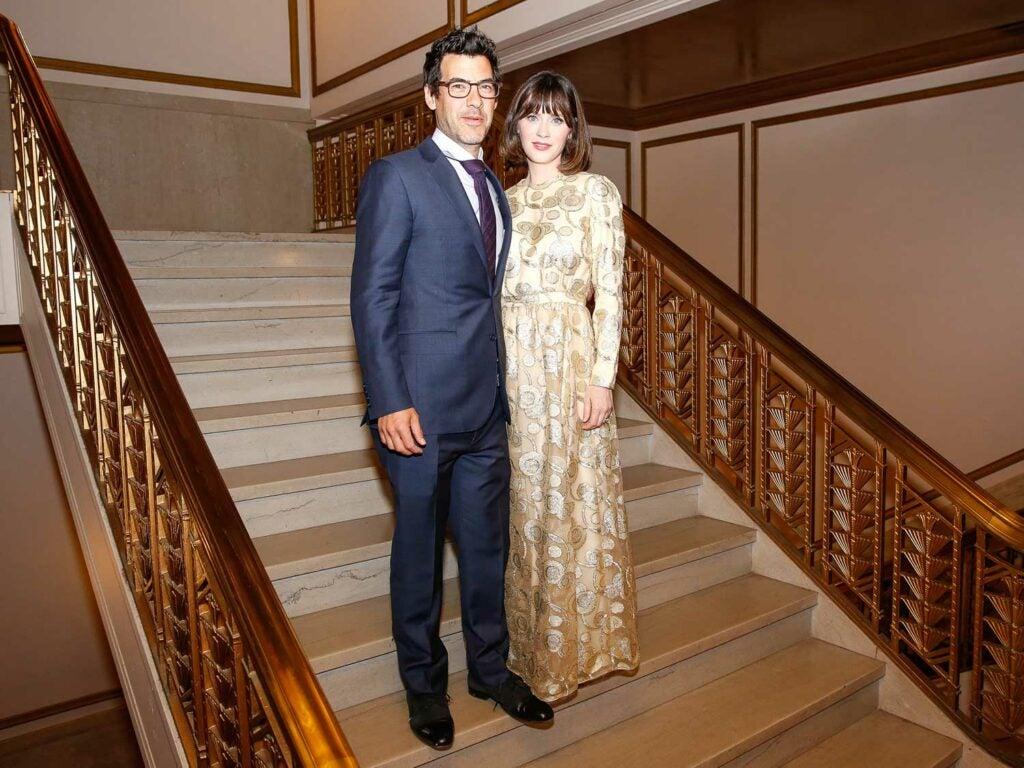 Presenter Zooey Deschanel and husband Jacob Pechenik