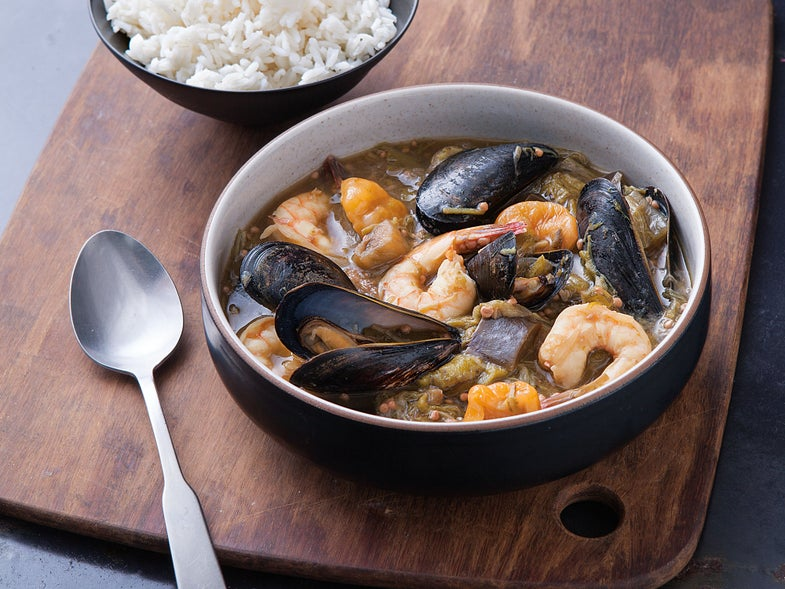 Okra and Seafood Stew (Soupoukandia)