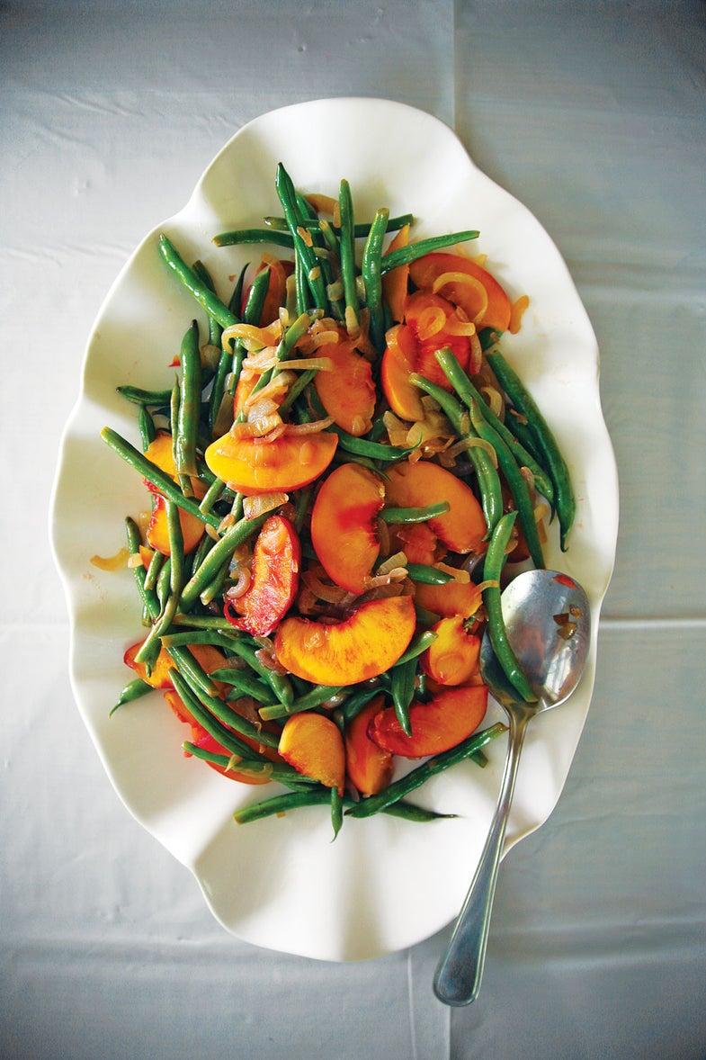 Green Bean and Peach Salad