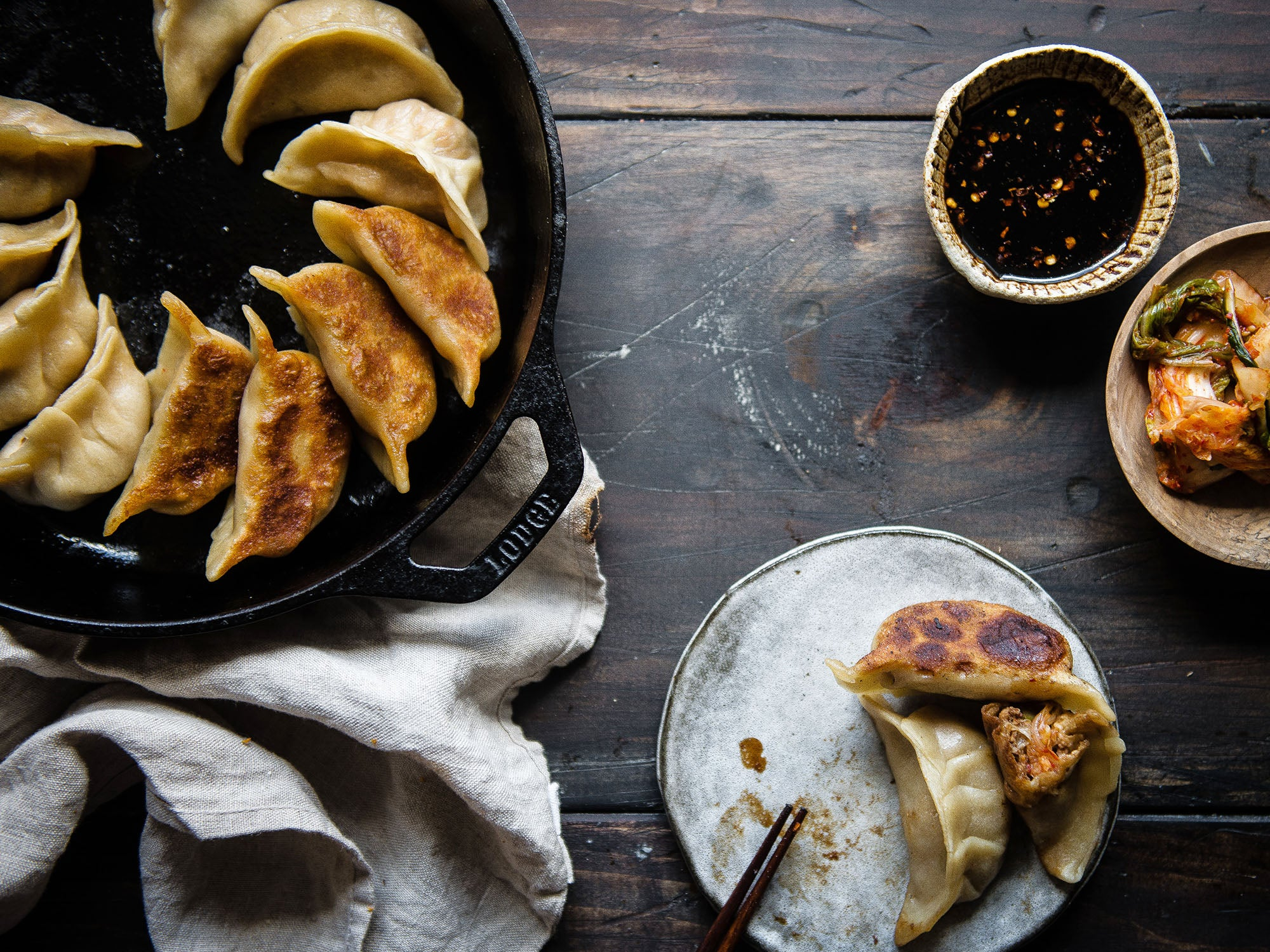 Pork and Kimchi Potstickers