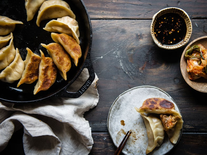 Pork and Kimchi Potstickers