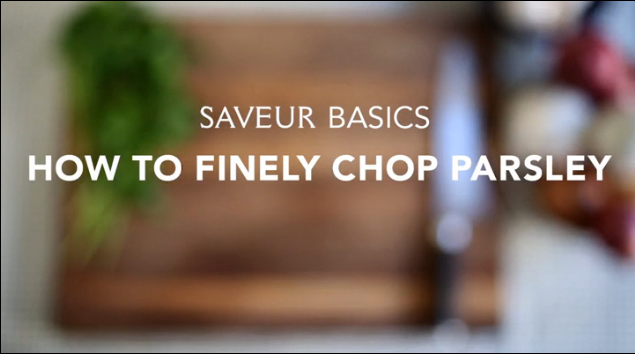VIDEO: How to Finely Chop Parsley