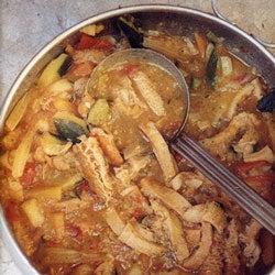 Trippa alle Verdure (Stewed Tripe with Vegetables)