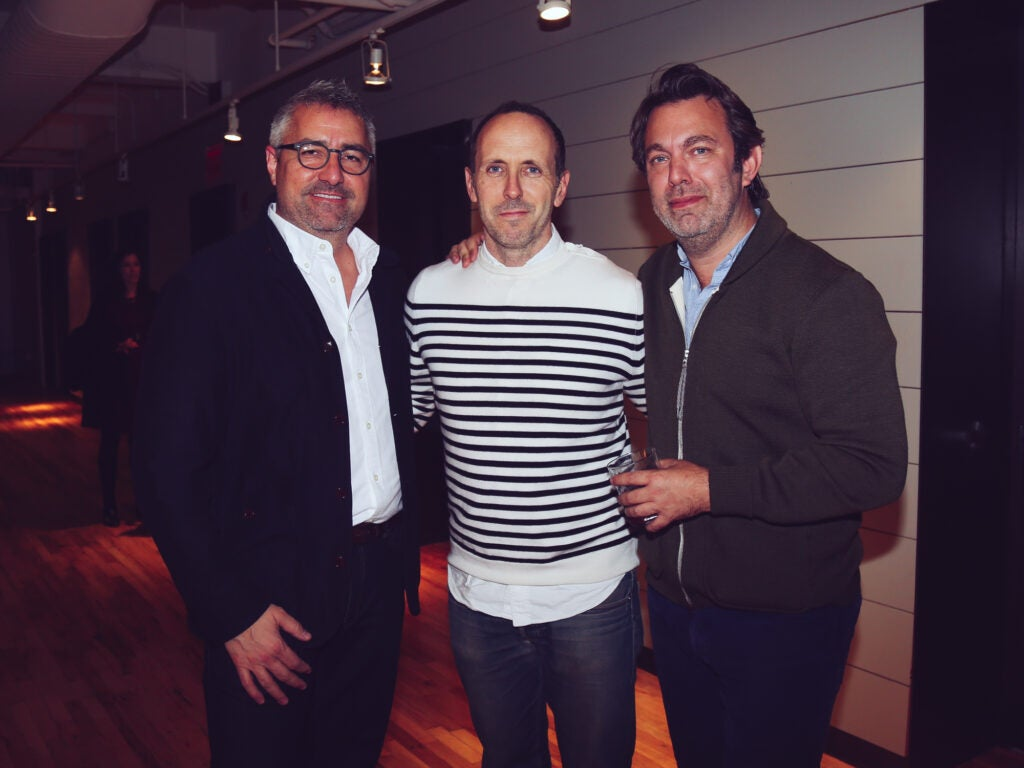Chef Rob Newton, GQ's Devin Friedman, and Saveur's Adam Sachs