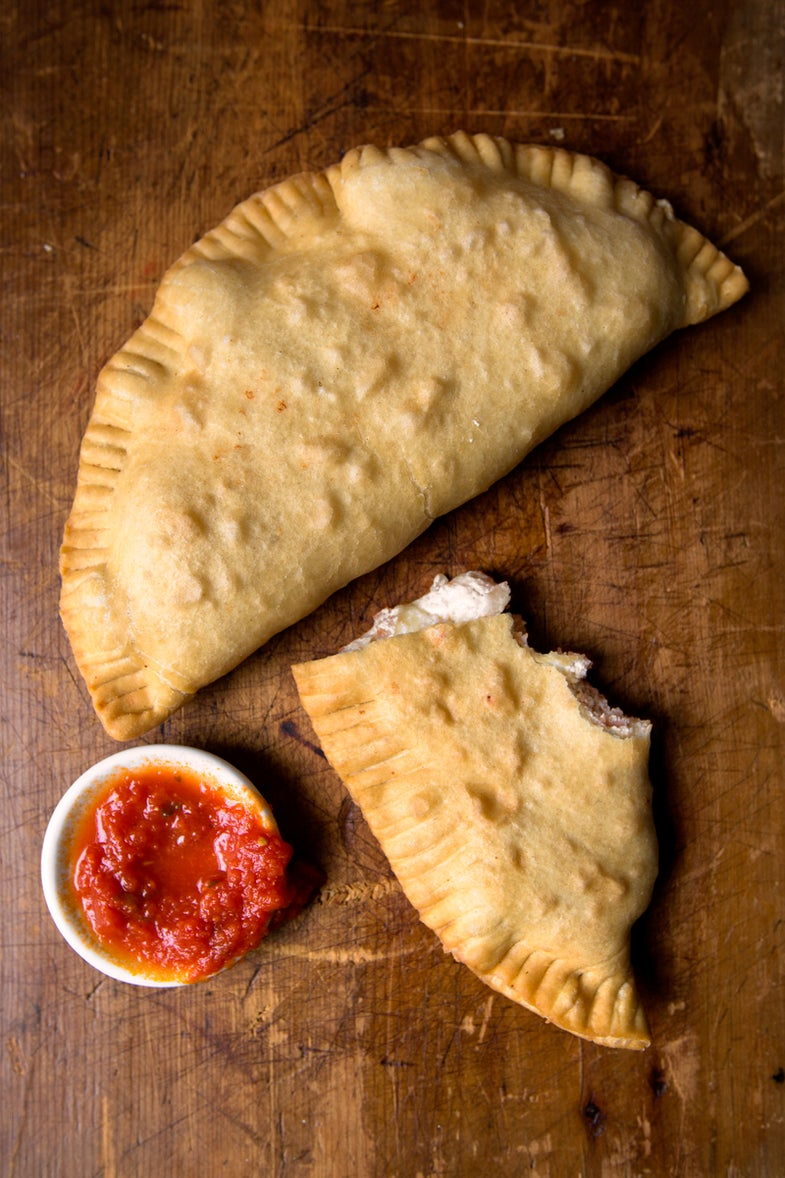Fried Ham and Ricotta Calzones