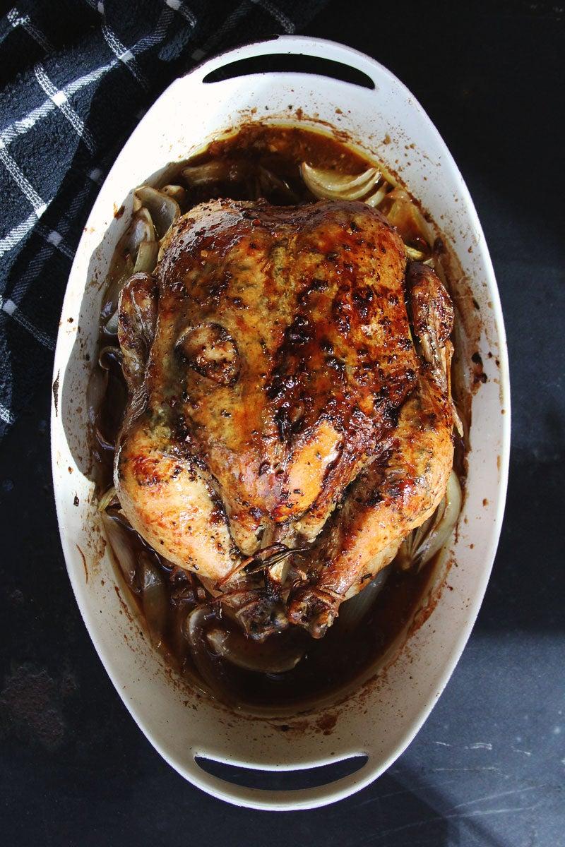 Rosemary-Maple Roast Chicken