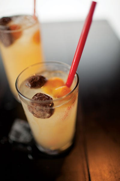 Jin Ju Nin Meng (Limequat Drink with Honey and Sour Plums)