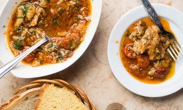 Portuguese Squid, Bean, and Sausage Stew (Feijoada de Lulas)