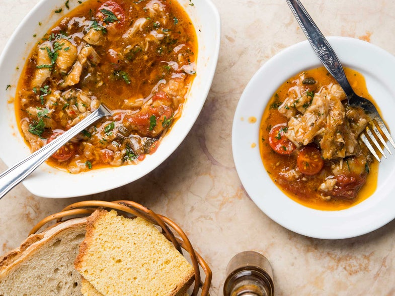 Squid, Bean, and Sausage Stew
