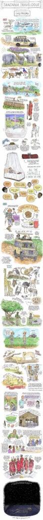 Tanzania sketchbook travel diary