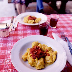 Squash Gnocchi with Meat Sauce