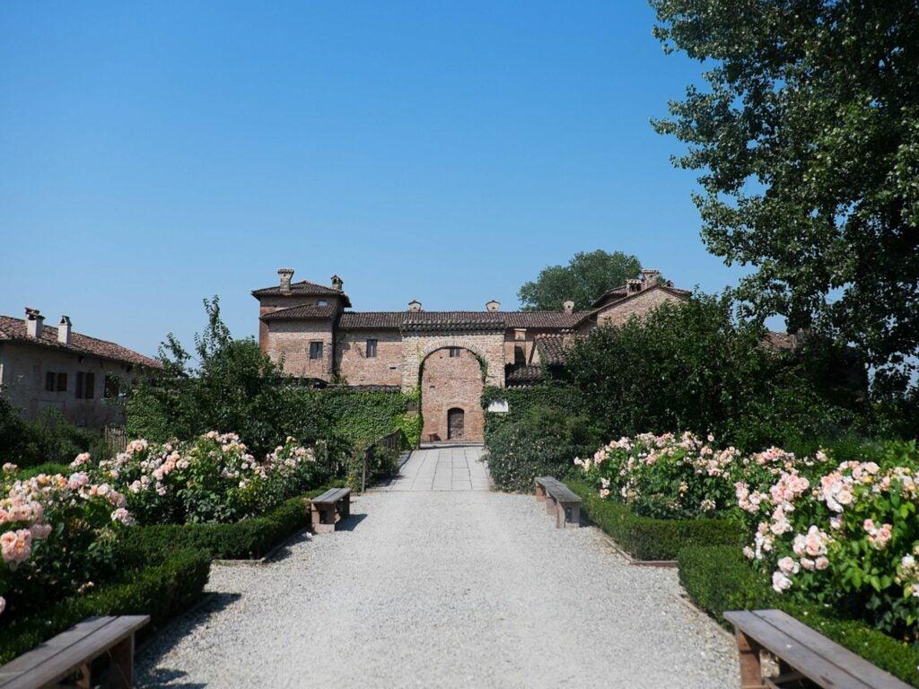 The entrance to Antica Corte Pallavicina.