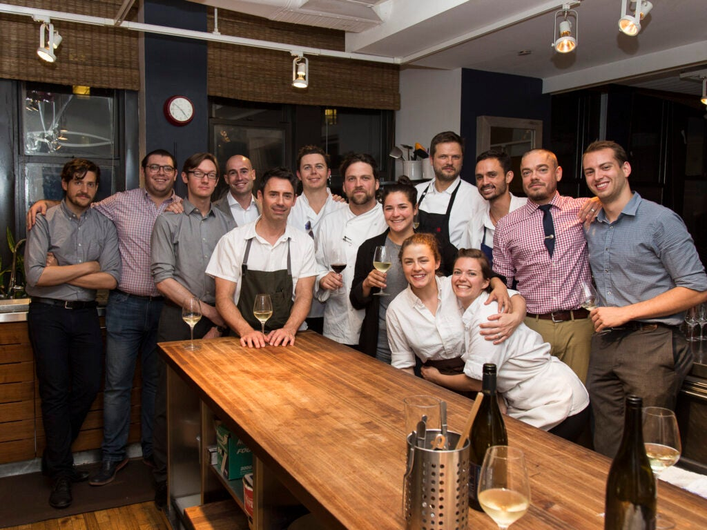 Team *Italienne* gets together after a successful Saveur Supper