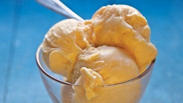 Spiced Persimmon Frozen Yogurt