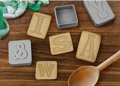 Letterpress Cookie Stamps