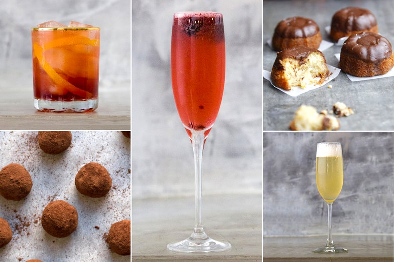 Menu: Sweets and Sparkling Cocktails for New Year's Eve