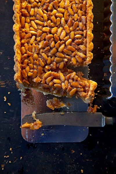 Honey Pine Nut Tart with Lemon Thyme