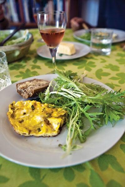 Fresh Cheese and Mint Omelet (Frittata Incu u Brocciu a Menta)