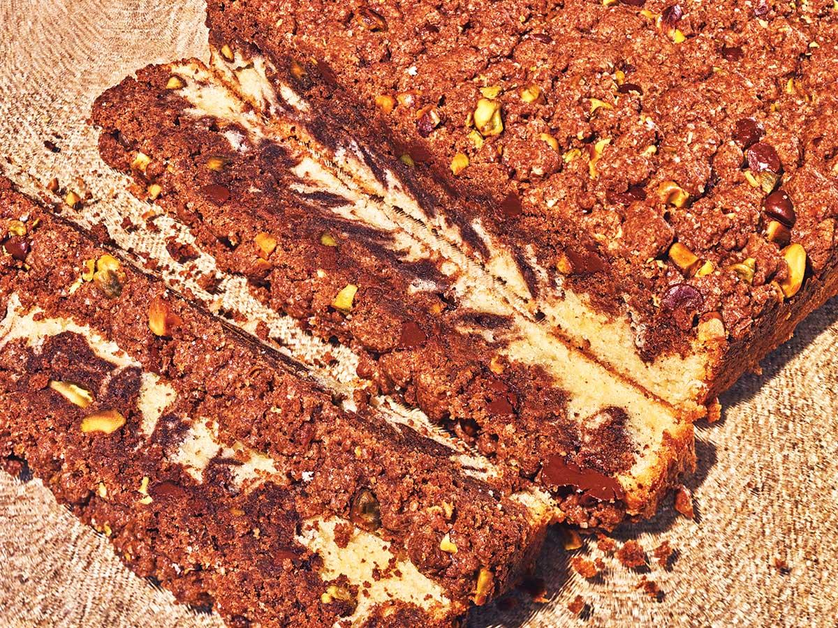 Chocolate-Pistachio Crumb Cake