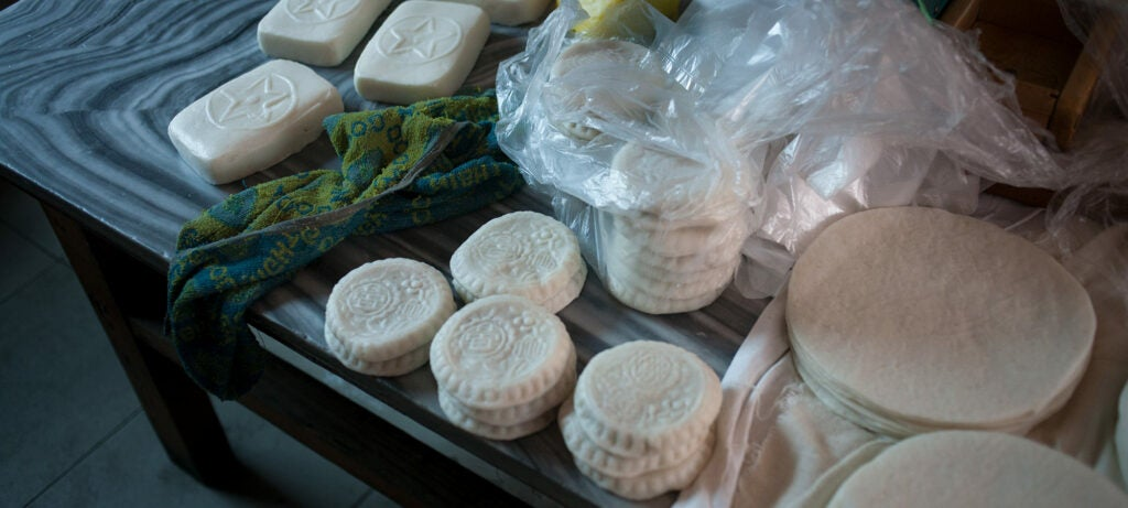 Various shapes of rice cakes