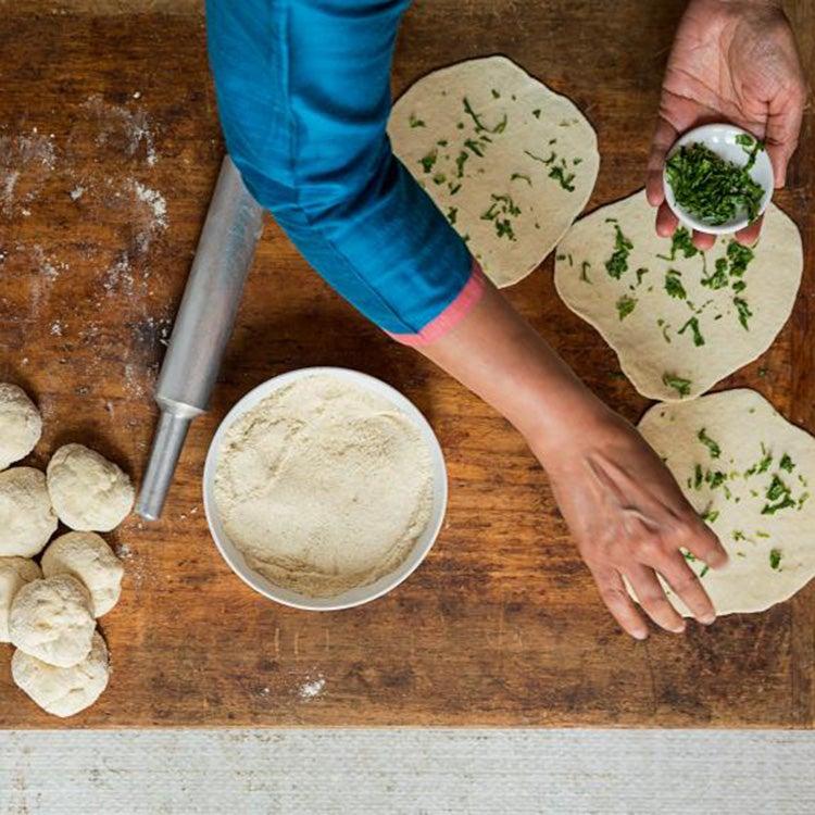 seasoning dough for naan