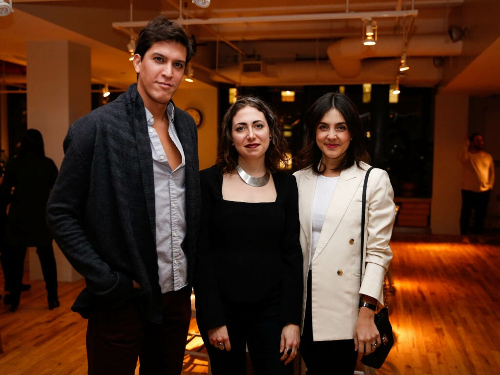 Saveur Associate Art Director Allie Wist with food stylist Mariana Velasquez and her husband, journalist Diego Señor