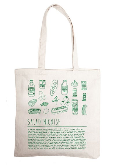 Illustrated Grocery Totes