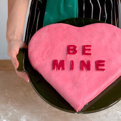 Building a Heart-Shaped Cake for Valentine's Day