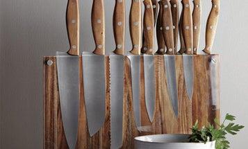 15-Piece Wood Knife Block