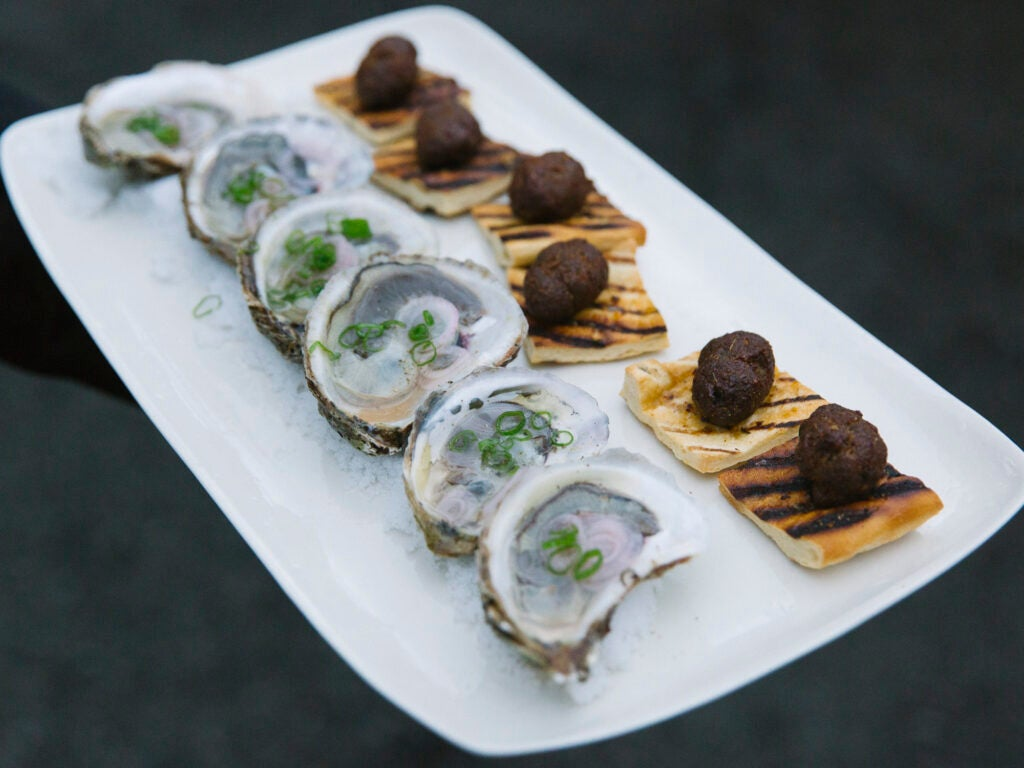 oysters sausage