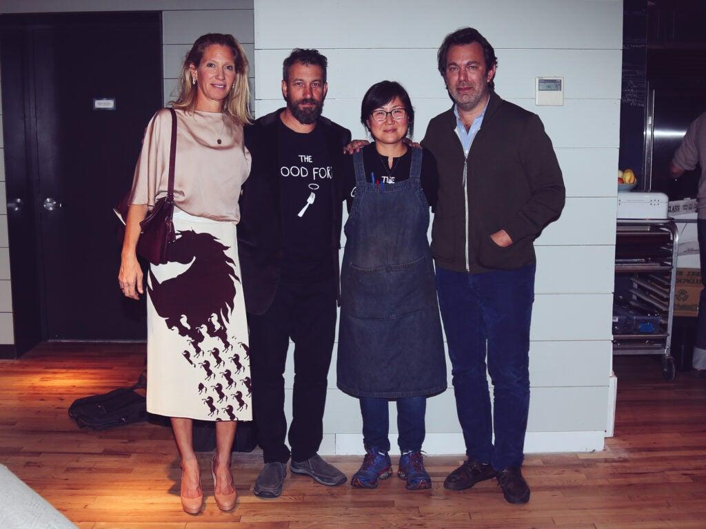 Brandon Holley, Ben Schneider and Sohui Kim, and Saveur Editor in Chief Adam Sachs
