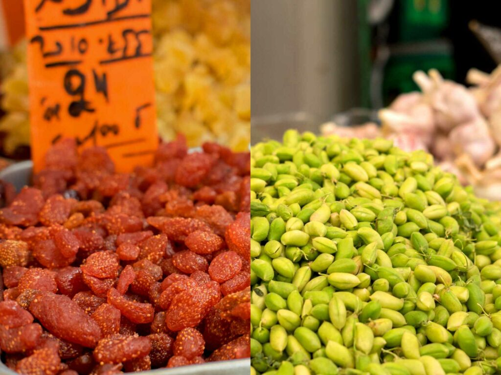 Dried Strawberries and Green Garbanzos