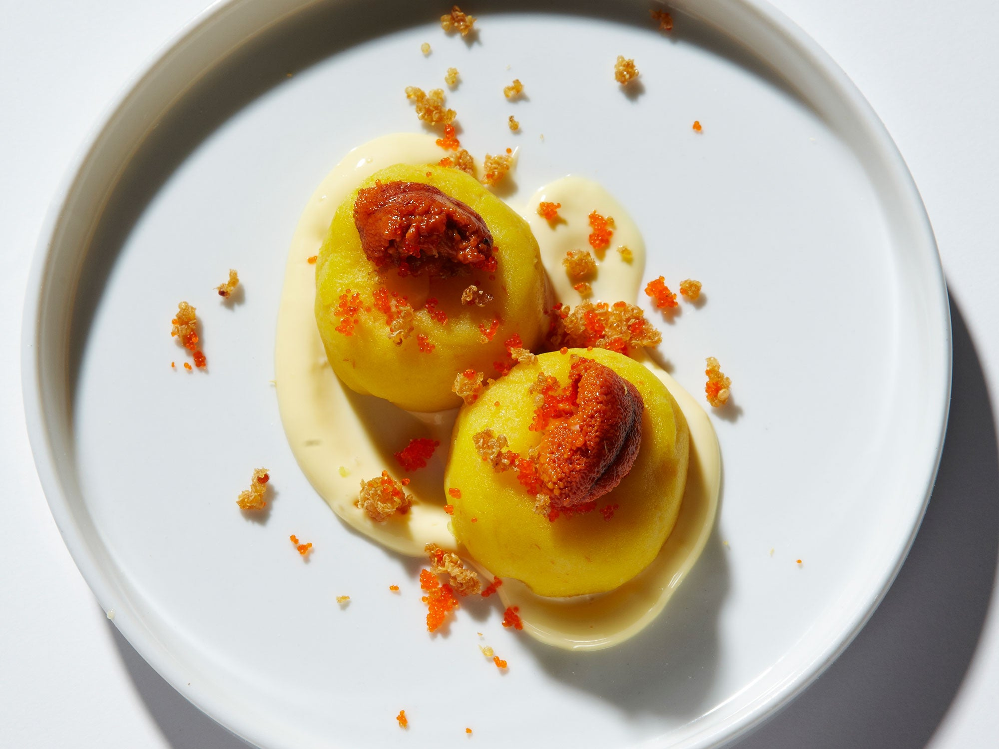 Potato–Jicama Rolls with Uni   Jose Andres