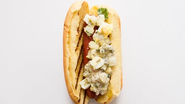 Potato Salad Hot Dog