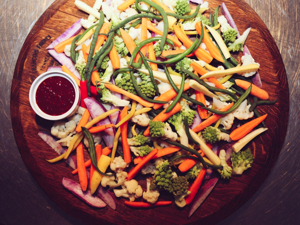 The world's prettiest plate of crudités
